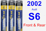 Front & Rear Wiper Blade Pack for 2002 Audi S6 - Assurance