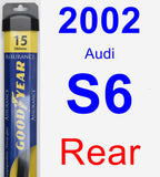 Rear Wiper Blade for 2002 Audi S6 - Assurance