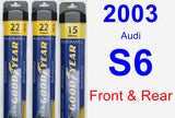 Front & Rear Wiper Blade Pack for 2003 Audi S6 - Assurance