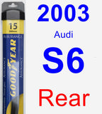 Rear Wiper Blade for 2003 Audi S6 - Assurance