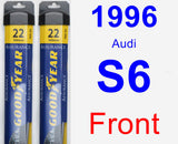 Front Wiper Blade Pack for 1996 Audi S6 - Assurance