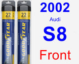 Front Wiper Blade Pack for 2002 Audi S8 - Assurance