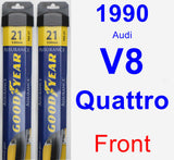 Front Wiper Blade Pack for 1990 Audi V8 Quattro - Assurance