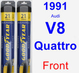 Front Wiper Blade Pack for 1991 Audi V8 Quattro - Assurance