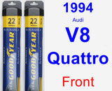 Front Wiper Blade Pack for 1994 Audi V8 Quattro - Assurance