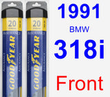 Front Wiper Blade Pack for 1991 BMW 318i - Assurance