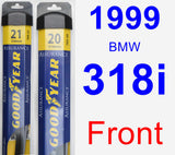 Front Wiper Blade Pack for 1999 BMW 318i - Assurance