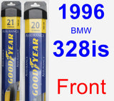 Front Wiper Blade Pack for 1996 BMW 328is - Assurance