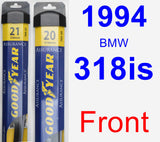Front Wiper Blade Pack for 1994 BMW 318is - Assurance