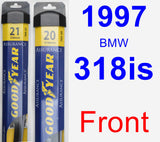 Front Wiper Blade Pack for 1997 BMW 318is - Assurance