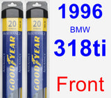 Front Wiper Blade Pack for 1996 BMW 318ti - Assurance