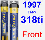 Front Wiper Blade Pack for 1997 BMW 318ti - Assurance