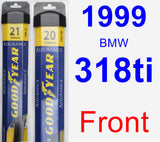 Front Wiper Blade Pack for 1999 BMW 318ti - Assurance