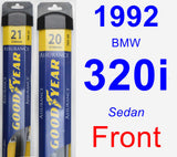 Front Wiper Blade Pack for 1992 BMW 320i - Assurance