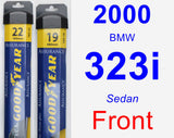Front Wiper Blade Pack for 2000 BMW 323i - Assurance