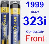Front Wiper Blade Pack for 1999 BMW 323i - Assurance
