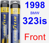 Front Wiper Blade Pack for 1998 BMW 323is - Assurance