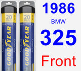 Front Wiper Blade Pack for 1986 BMW 325 - Assurance