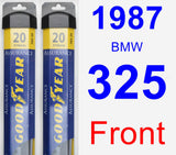Front Wiper Blade Pack for 1987 BMW 325 - Assurance