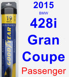 Passenger Wiper Blade for 2015 BMW 428i Gran Coupe - Assurance