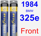 Front Wiper Blade Pack for 1984 BMW 325e - Assurance