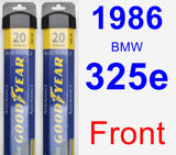 Front Wiper Blade Pack for 1986 BMW 325e - Assurance