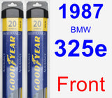 Front Wiper Blade Pack for 1987 BMW 325e - Assurance