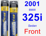 Front Wiper Blade Pack for 2001 BMW 325i - Assurance