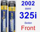 Front Wiper Blade Pack for 2002 BMW 325i - Assurance