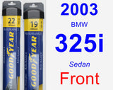 Front Wiper Blade Pack for 2003 BMW 325i - Assurance