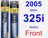 Front Wiper Blade Pack for 2005 BMW 325i - Assurance
