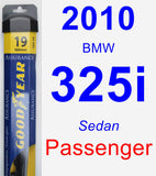 Passenger Wiper Blade for 2010 BMW 325i - Assurance