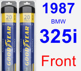 Front Wiper Blade Pack for 1987 BMW 325i - Assurance
