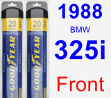 Front Wiper Blade Pack for 1988 BMW 325i - Assurance