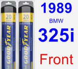 Front Wiper Blade Pack for 1989 BMW 325i - Assurance