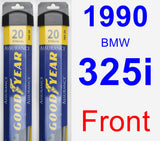 Front Wiper Blade Pack for 1990 BMW 325i - Assurance