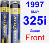 Front Wiper Blade Pack for 1997 BMW 325i - Assurance