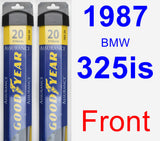 Front Wiper Blade Pack for 1987 BMW 325is - Assurance