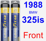 Front Wiper Blade Pack for 1988 BMW 325is - Assurance