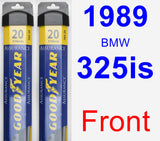 Front Wiper Blade Pack for 1989 BMW 325is - Assurance
