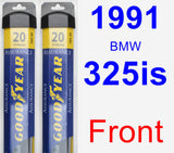 Front Wiper Blade Pack for 1991 BMW 325is - Assurance