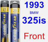 Front Wiper Blade Pack for 1993 BMW 325is - Assurance