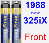 Front Wiper Blade Pack for 1988 BMW 325iX - Assurance