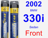 Front Wiper Blade Pack for 2002 BMW 330i - Assurance
