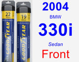 Front Wiper Blade Pack for 2004 BMW 330i - Assurance
