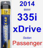 Passenger Wiper Blade for 2014 BMW 335i xDrive - Assurance