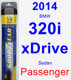 Passenger Wiper Blade for 2014 BMW 320i xDrive - Assurance