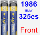 Front Wiper Blade Pack for 1986 BMW 325es - Assurance