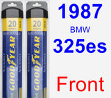 Front Wiper Blade Pack for 1987 BMW 325es - Assurance
