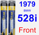 Front Wiper Blade Pack for 1979 BMW 528i - Assurance